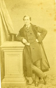 French Actor, Lafontaine, old Plumier Photo CDV 1860