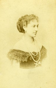French Actress, Mlle Fromentin, old Photo CDV 1870's