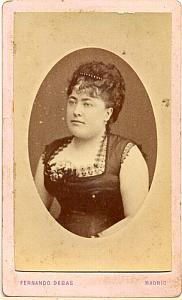 French Opera Singer, Mlle Preville, old Photo CDV 1880'