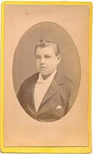 Edmond Breuil First communion day, old Photo CDV 1880'