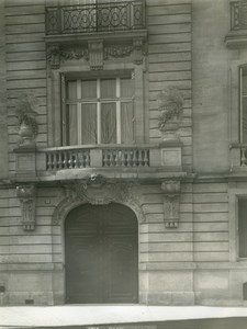 France Paris Modern House Avenue Hoche old LP Photo 1900'