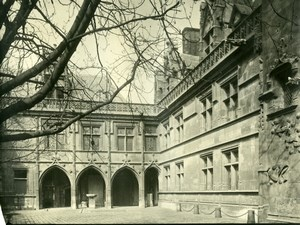 Cluny Museum, court, Paris, old LP Photo 1900'