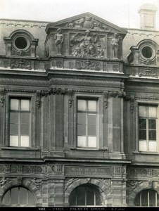 France Paris Louvre Palace Architecture detail old LP Photo 1900'