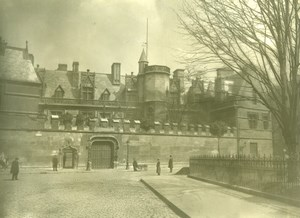 Hotel Cluny Museum Architecture Paris old LP Photo 1900