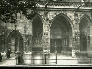 Saint Germain l'Auxerrois Church Paris old Photo 1900'