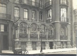Modern House Quai d'Orsay Bicycle Paris old Photo 1900'