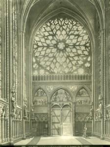 France Paris Sainte Chapelle Interior Rosace old LP Photo 1900'