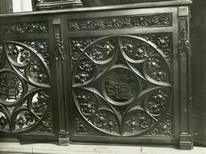 France Paris Saint-Laurent Church Choir detail old LP Photo 1900'