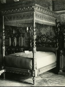 France Paris Cluny Museum Bed old LP Photo 1900'