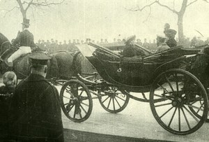 UK? Officials in Horse car King George V ? Military WWI WW1 old Photo 1914-1918