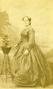 France Lady Nice Dress Second Empire Fashion old Photo CDV 1860'