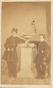 School Boys in Uniform Fashion, France, Photo CDV 1860'