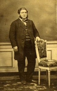 France Wealthy Man in Suit Second Empire Fashion Old Photo CDV 1860