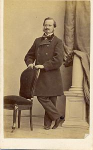 Wealthy Man in Studio Fashion France old Photo CDV 1860