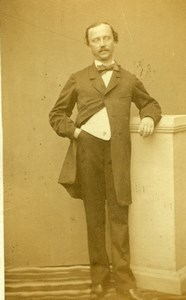 Man in Costume Fashion, France, old Photo CDV 1860'