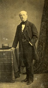 France Old Man in Suit Second Empire Fashion Old Photo CDV 1860
