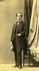 France Man in Suit Second Empire Fashion Old Photo CDV 1860