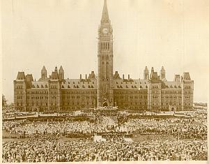 Diamond Jubilee Animated Scene Ottawa old Photo 1927