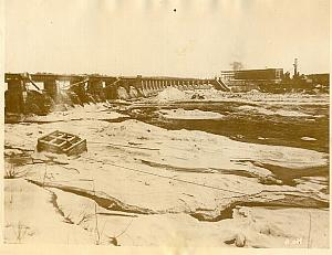 Canadian Power Dam Gatineau River Winter old Photo 1925