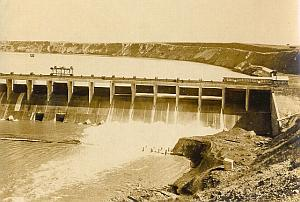 Bassano Dam General View Alberta Canada old Photo 1930