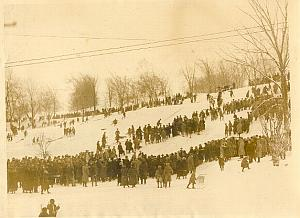 Winter Sports in Montreal Mont Royal old Photo 1930
