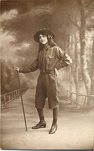 1916' Scouting Girl Guide Scout WWI PC real Photo