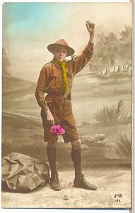 1916 Scouting Boy Scouts Scout WWI PC real Photo