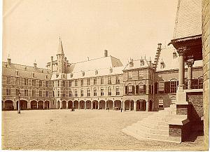 The Hague Binnenhof court Holland old Photo 1890'