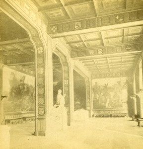 France Versailles Castle Salle des Croisades old Stereoview Photo 1880