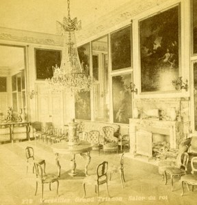France Versailles Grand Trianon Salon du Roi Old Champagne Stereoview Photo 1880