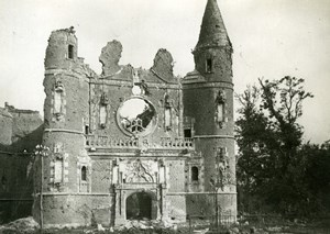 France Somme Tilloloy Castle Chapel Ruins WW1 WWI old Photo 1914-1918
