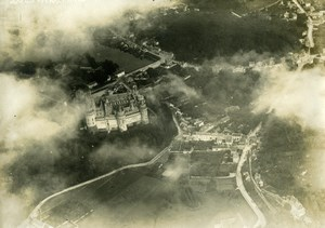 Pierrefonds, general view, WWI WW1 War old aerial Photo