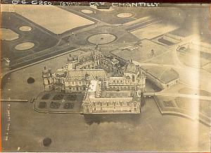 Chantilly Castle, WWI WW1 War old aerial Photo 1918