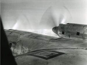 France Aviation Airplane and clouds study old Photo 1960'