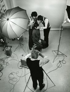 France French Studio Photographer JP Rossignol at work old Photo 1960'