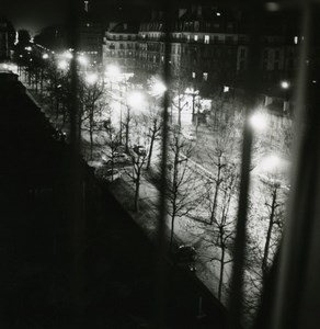 France Paris by Night Paris de Nuit light study old Photo 1960'