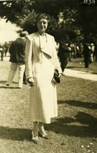 Elegant French Fashion at Horse Racing old Photo 1920'