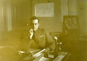 Col. Fitzgerald, Aviation US, WWI, old Photo 1918