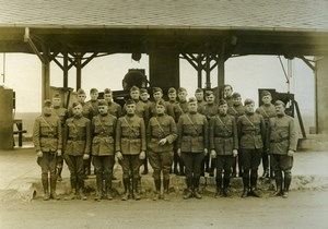 Engineering Staff WWI 2nd Aviation Instruction Center Tours France Photo 1918
