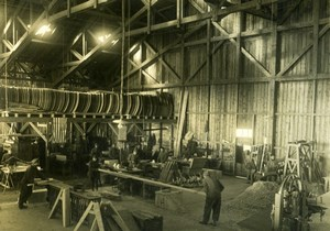Airplane Construction Aviation US WWI, old Photo 1918