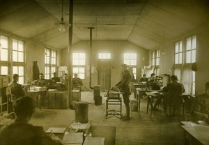 Supply Office Military Aviation US, WWI, old Photo 1918