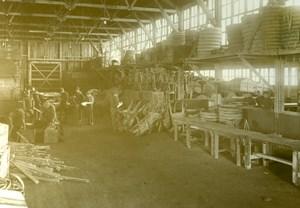 Supply Warehouse Interior Aviation WWI old Photo 1918