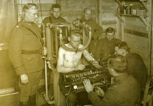 Aviator Breathing Test WWI Aviation Instruction Center Tours France Photo 1918