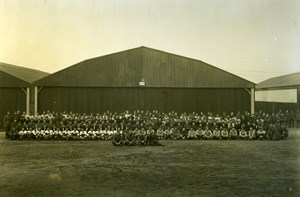 Football Teams WWI AEF 2nd Aviation Instruction Center Tours France Photo 1918