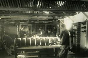 Machine Gun Dept, Aviation US, WWI, old Photo 1918