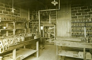 Storage Battery Lab., Aviation US, WWI, old Photo 1918
