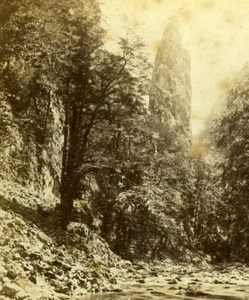 France Alps Grande Chartreuse Needle Old Observatoire Gay Photo stereoview 1860s