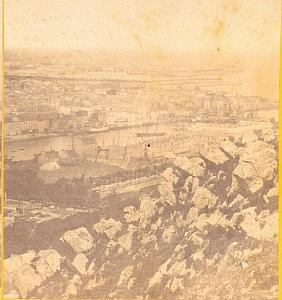 Cherbourg, France , old Photo stereoview 1860'