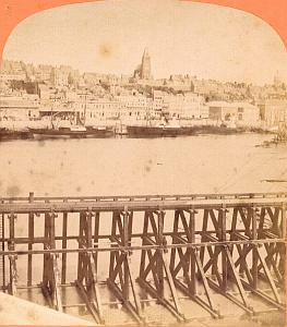 General view, Boulogne/Mer , old Photo stereoview 1860'