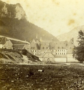 France Alps Grande Charteuse Convent old Photo stereoview 1860's